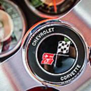 1963 Chevrolet Corvette Split Window Steering Wheel Emblem -170c Poster