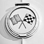 1963 Chevrolet Corvette Split Window - Sting Ray Emblem -257bw Poster