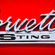 1963 Chevy Corvette Stingray Emblem Poster