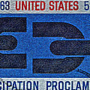 1963 Emancipation Proclamation Stamp Poster