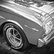 1963 Ford Falcon Sprint Convertible  Bw Poster