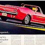 1964 - Ford Mustang Convertible - Advertisement - Color Poster