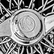 1964 Shelby 289 Cobra Wheel Emblem -0666bw Poster