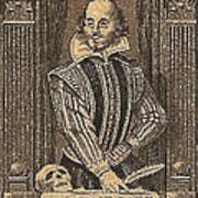 1964 William Shakespeare Postage Stamp Poster
