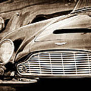 1965 Aston Martin Db6 Short Chassis Volante Grille Poster