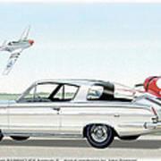 1965 Barracuda  Classic Plymouth Muscle Car Poster