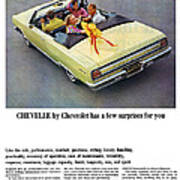 1965 Chevelle Convertible Poster