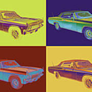 1965 Chevy Impala 327 Convertible Pop Art Poster