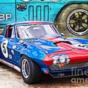 1965 Corvette Front View Poster