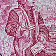 1965 Dante Anniversary Stamp Poster