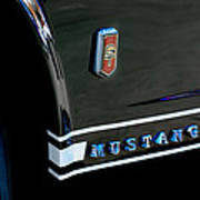 1965 Ford Mustang Gt Convertible Emblem Poster