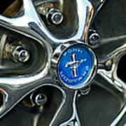 1965 Ford Mustang Wheel Rim Poster