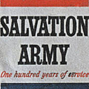 1965 Salvation Army Stamp Poster