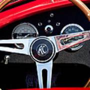 1965 Shelby Ac Cobra Roadster 289 Steering Wheel Emblem Poster