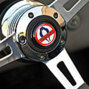 1965 Shelby Cobra 427 Steering Wheel Emblem Poster