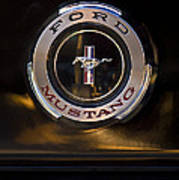 1965 Shelby Prototype Ford Mustang Emblem 2 Poster