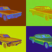 1966 Chevrolet Caprice 427 Muscle Car Pop Art Poster