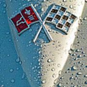 1966 Chevrolet Corvette Sting Ray Hood Emblem Poster