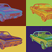 1966 Chevy Chevelle Ss 396 Car Pop Art Poster