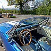 1966 Convertible Mustang On Tour In The Cotswolds Poster