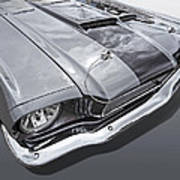 1966 Mustang Hood And Headlight Poster