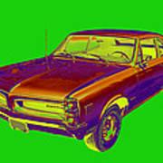 1966 Pointiac Lemans Car Pop Art Poster