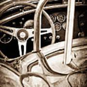 1966 Shelby 427 Cobra Steering Wheel Emblem Poster