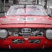 1967 Alfa Romeo Gtv Watercolor Poster