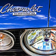 1967 Chevrolet Camaro Ss 350 Headlight - Hood Emblem  Poster