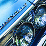 1967 Chevrolet Chevelle Malibu Head Light Emblem Poster