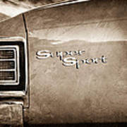 1967 Chevrolet Chevelle Ss Super Sport Taillight Emblem Poster