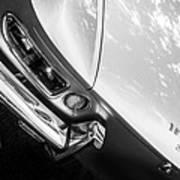 1967 Ferrari 330 Gts Taillight Emblem -0406bw Poster
