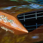 1967 Ford Mustang Cobra Jet Hood Emblem Poster
