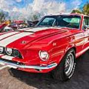 1967 Ford Shelby Mustang Gt500 Painted  Poster