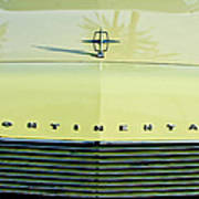 1967 Lincoln Continental Grille Emblem - Hood Ornament Poster