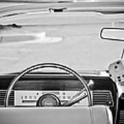 1967 Lincoln Continental Steering Wheel -014bw Poster
