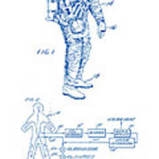 1967 Nasa Astronaut Ventilated Space Suit Patent Art 2 Poster