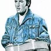 1968 Blue Denim Suit Poster