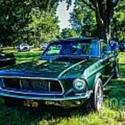 1968 Bullitt Mustang Poster