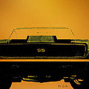 1968 Camaro Ss Head On Poster