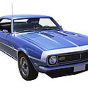 1968 Chevrolet Camaro 327 Muscle Car Poster