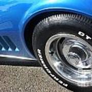1968 Corvette Sting Ray - Blue - Side - 8923 Poster