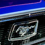 1968 Ford Mustang Cobra Gt 350 Grille Emblem Poster