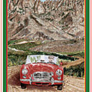 Mountain Rallying In A 1968 M G B  Poster
