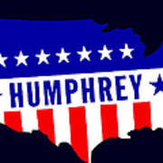 1968 Vote Humphrey For President Poster