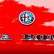 1969 Alfa Romeo Spider Veloce Iniezione Emblem Poster