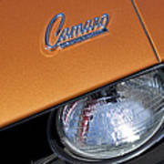 1969 Chevrolet Camaro Headlight Emblem Poster by Jill Reger