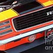 1969 Chevrolet Camaro Rs - Orange - Front End 7550 Poster