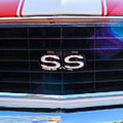 1969 Chevrolet Camaro Rs-ss Indy Pace Car Replica Grille Emblem Poster