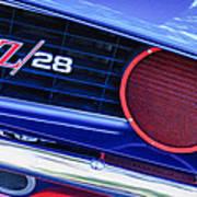 1969 Chevrolet Camaro Z28 Grille Emblem Poster